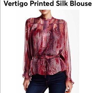 Vertigo Paris Silk Print Blouse